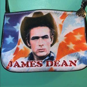 James Dean small purse, good condition except...